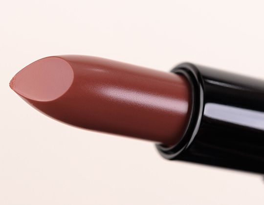 """Bobbi Brown Uber Nude Rich Lip Color ($24.00 for 0.13 oz.) is described as a """"medium rose."""" It's a subtly rose-tinted medium brown with a natural sheen. MAC Spice is very comparable, perhaps a touch rosier. MAC Viva Glam VI is shimmery. MAC Mocha is warmer. Guerlain Galante is redder."""