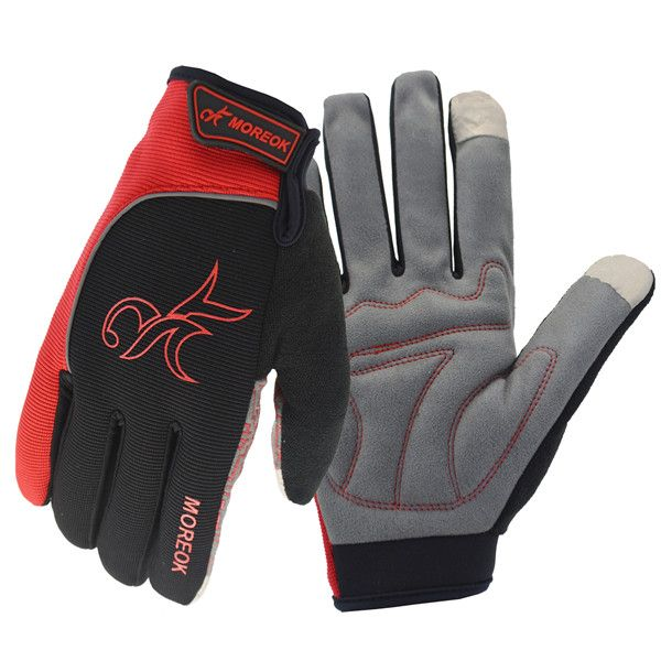 Reflection Warm Full Finger Gloves Touch Screen Motorcycle Bicycle Racing Outdoor Sports