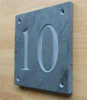 """Slate house number. 100mm x 100mm (4""""x4"""")"""