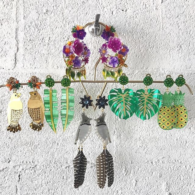 Tropical Beauties from @mercedessalazar Hanging Pretty at Boho Hunter! 🌸🍍🌴🌸🍍🌴🌸🍍🌴 SHOP Entire Collection ONLINE: www.bohohunter.com #handcrafted #madeincolombia #tropicalvibes