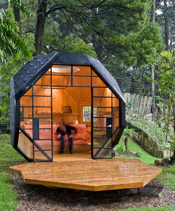 Bogota, Colombia. >> Another spectacular Tiny Home I would love to disperse around the world!Guest Room, Spaces, Ideas, Tiny House, Studios, Guest House, Gardens, Small House, Backyards