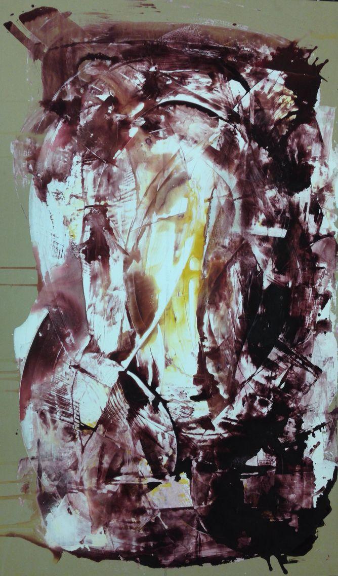 Plaster variation 3, 200x100cm, Plaster, acrylic on plasterboard, 2015