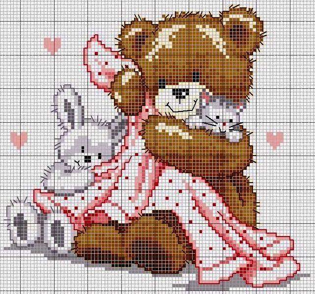 Ours et petits animaux pour bébé