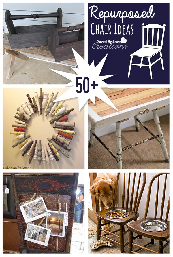50+ Repurposed Chair Projects to make @savedbyloves #upcycle #furniture #DIY