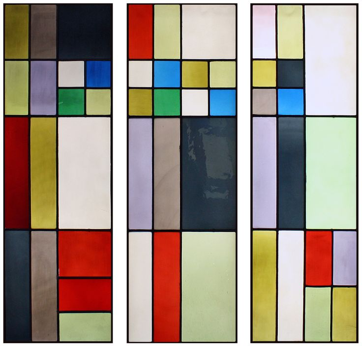 "Theo van Doesburg Stained Glass Windows - In addition to painting, Dutch artist Theo van Doesburg (1883-1931) co-founder and ""ambassador"" to the De Stijl movement, designed many stained glass works during his career. His neoplastic art, with its black bordered color fields, were perfectly suited for the stained glass medium."