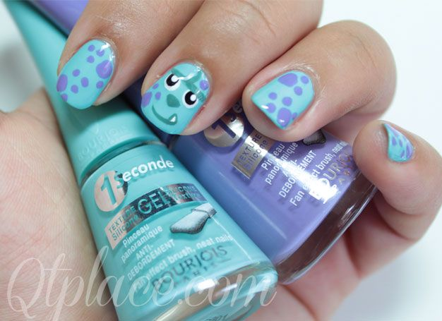 Monster inc Sully nails - Gab would love this!