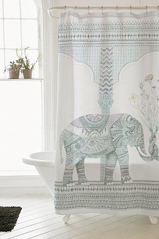 Illustrative Elephant Shower Curtain