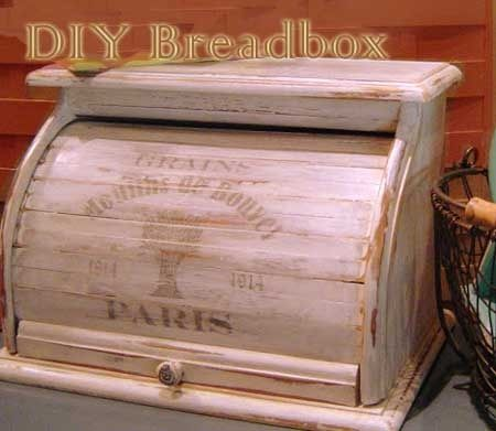 DIY how-to add French print & restyle a boring breadbox into a treasure