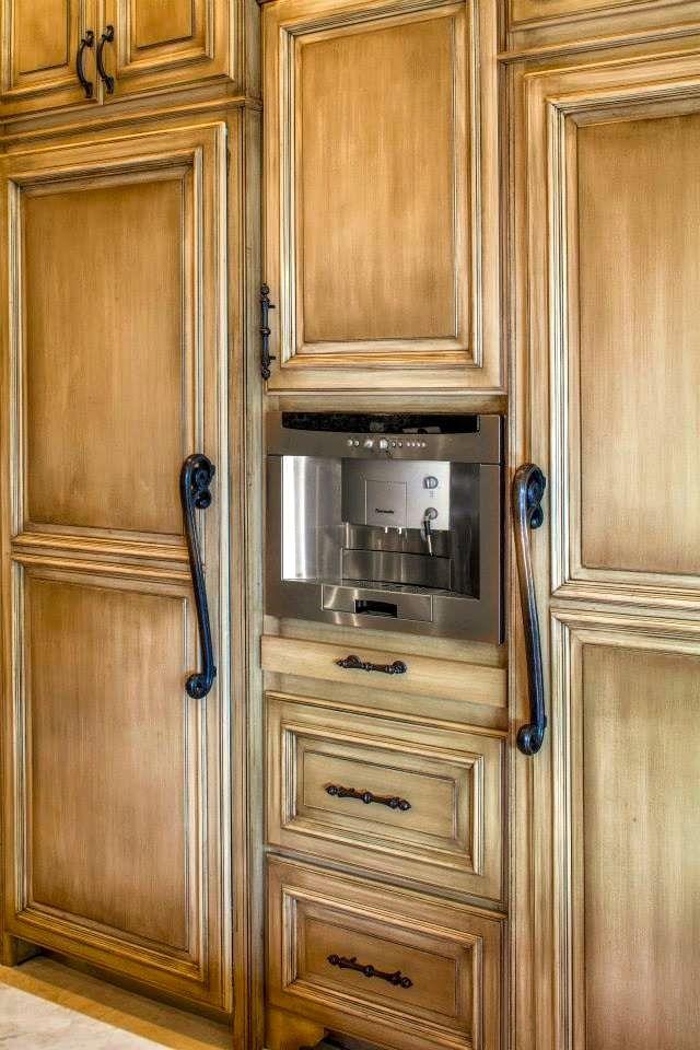 built in refrigerator, freezer with espresso machine