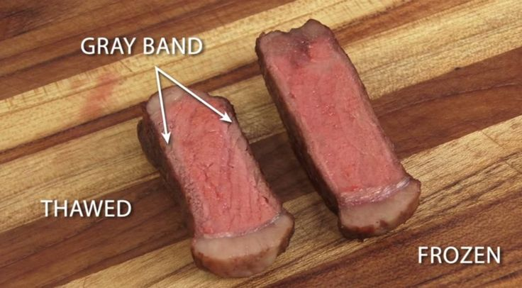 A video from America's Test Kitchen shows that there's actually a better way to cook frozen steaks. Dan Souza, a Cook's Illustrated editor and the guy in the video, experimented with frozen steaks as seen here: He used eight strip loin steaks cut in half. He froze the steaks then he thawed a half of …