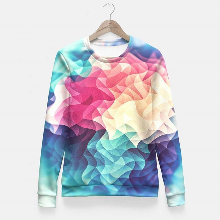 #Colorful #Abstract #Geometric #Vintage #Triangle #Pattern #FittedWaist #Sweater #LiveHeroes http://ow.ly/3zv3at - http://ift.tt/1Ogt3bY #art #design