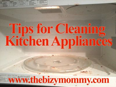 Tips for cleaning kitchen appliances | The Bizy Mommy
