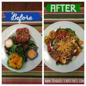 21 Day Fix Recipes - Turkey Mexican Salad. Get more recipes on my blog!