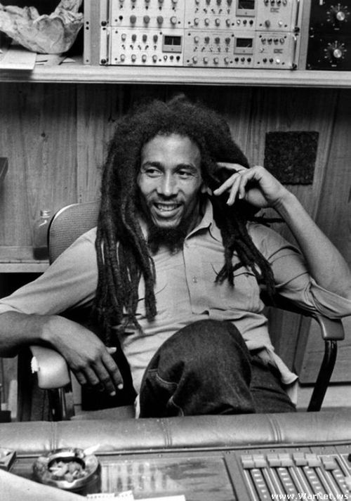 """Bob Marley who likes to relax smoking good weed says,""""One good thing about music,when it hits you, you feel no pain."""""""