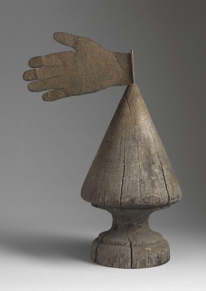 Primitive hand form weathervane, Northern European, c.1830.