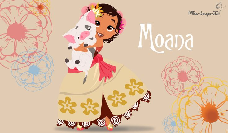 Disney Princess Young ~ Moana by miss-lollyx-33