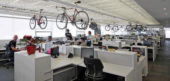 Хранение велосипедов в офисе