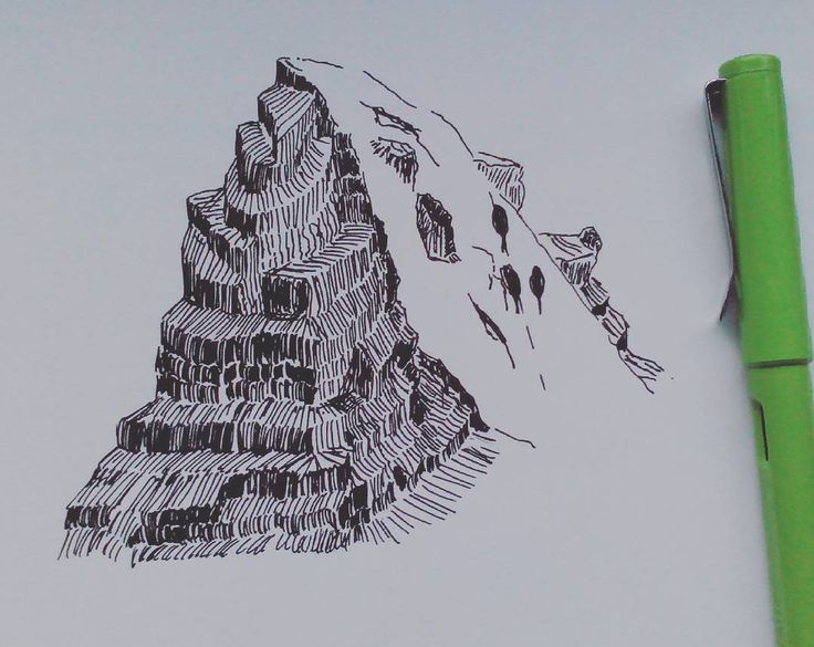 Mountain sketch #illustration #drawing #artwork #instaart #sketch #sketching #jinhao #jinhaofountainpen #fountainpendrawing