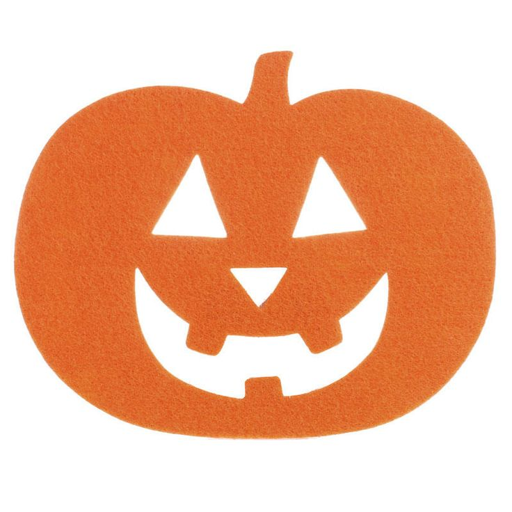 felties jack o lantern pumpkin cutout - Halloween Cutout Decorations