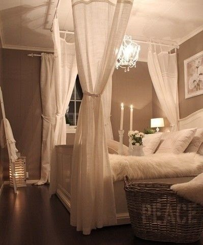 Super romantic bedroom!  Can't forget about the romance!!!!!!!