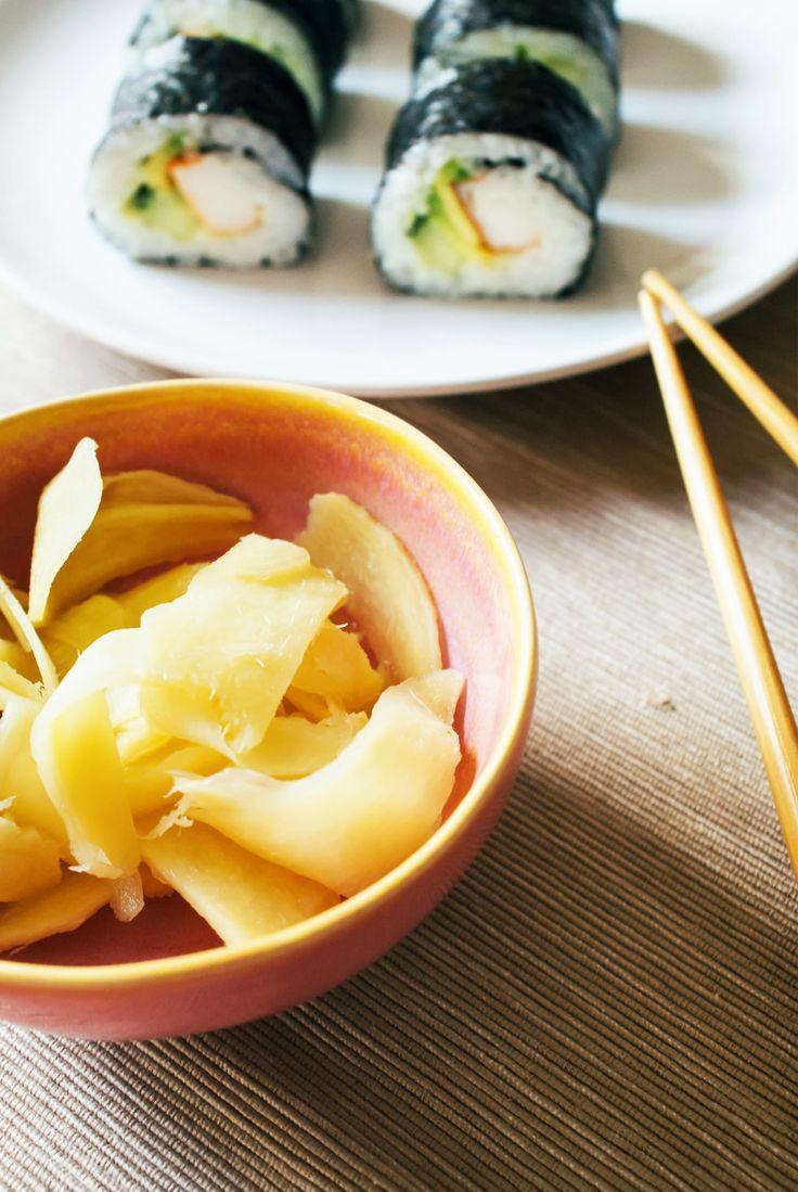 Gari | Eingelegter Ingwer | Perfekt zu Sushi | Rezept | Food | Ivy.li