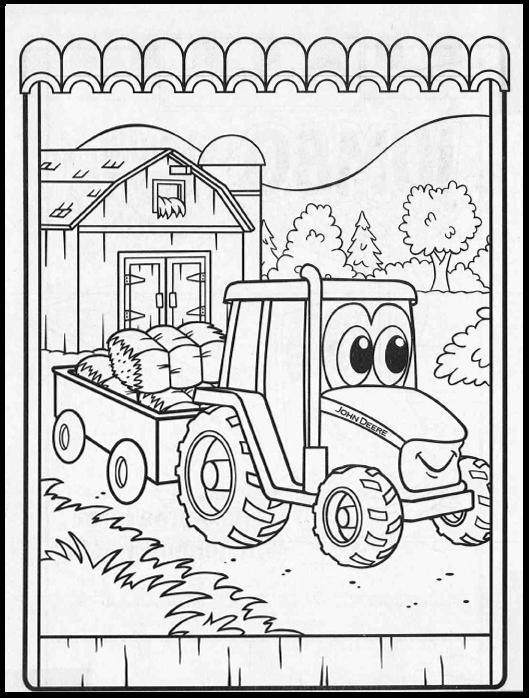 john deere christmas coloring pages - photo#47