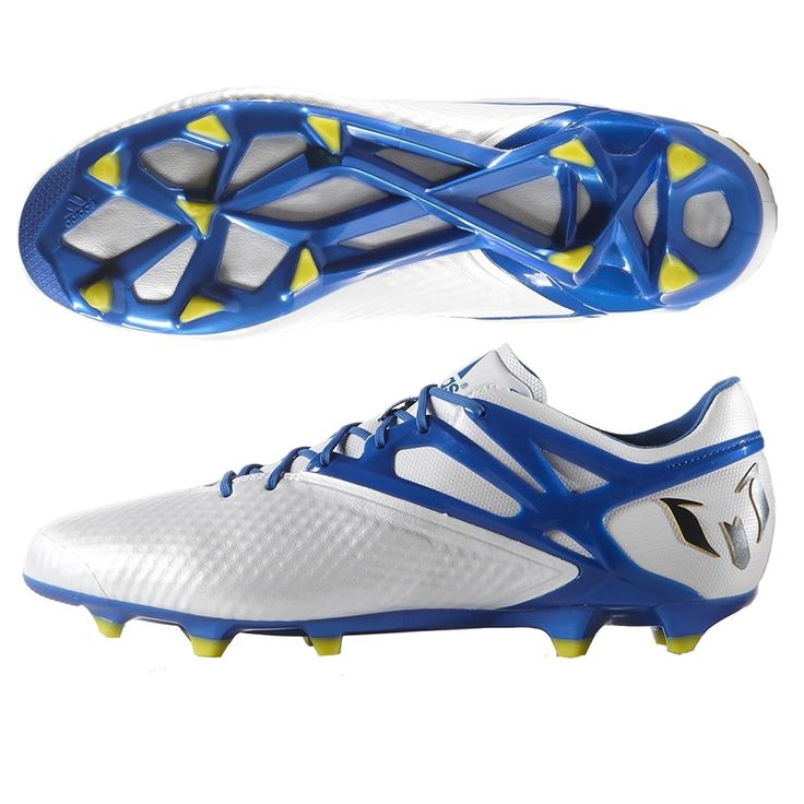 Lionel Messi wears these soccer cleats, so why don't you? The Adidas Messi 15.1 soccer cleats are one of the best for the best speed and touch on the field. Featuring a soft synthetic upper, these shoes may feel and react like leather, but are lightweight. With the FG/AG soleplate, you can transition from natural to artificial grass without any worries. Get your new Adidas soccer cleats today at SoccerCorner.com…