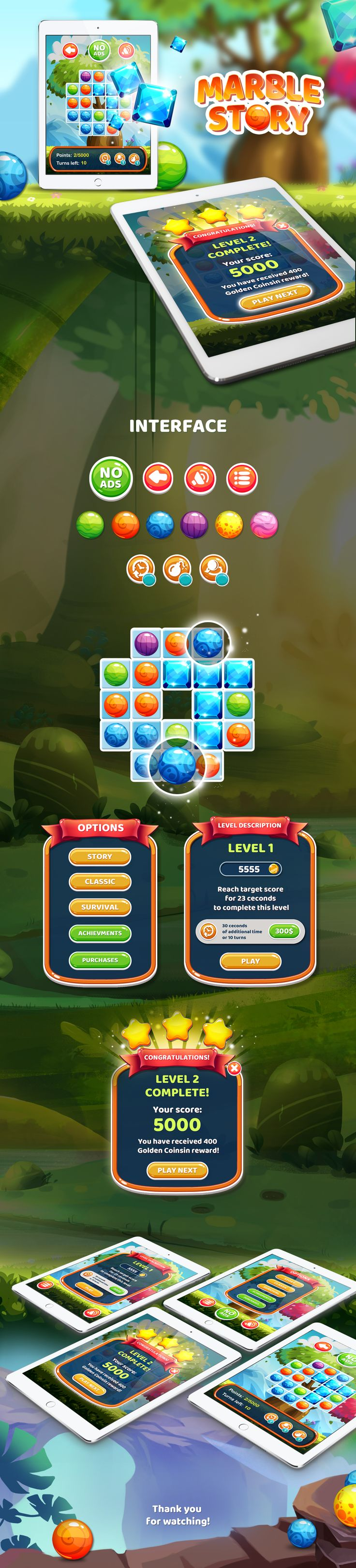 Marble Story Game on Behance