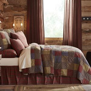 Delectably-Yours.com Cedar Ridge Quilt and Sham Bed Set by VHC Brands in 4 Sizes with matching tartan red plaid accessories   #DelectablyYoursDecor