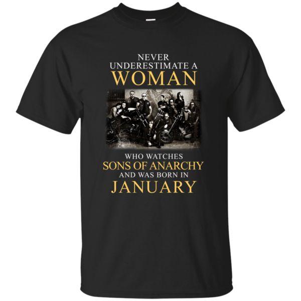 Woman T shirts Who Watches Sons Of Anarchy Born In January Hoodies Sweatshirts https://www.fanprint.com/stores/teeshirtstudio-fut?ref=5750