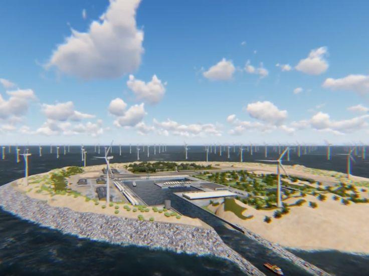 Implantée en mer du Nord, une île artificielle de six kilomètres carrés à plusieurs milliards d'euros devrait être consacrée à la production d'énergies renouvelables.