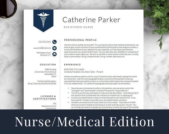 Doctor Resume Template For Word U0026 Pages, Nurse Resume Template | Nurse CV  Template |  Resume Template Nursing