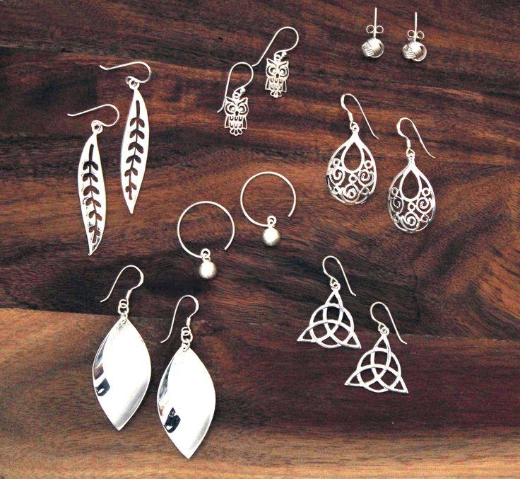 New sterling silver earrings....