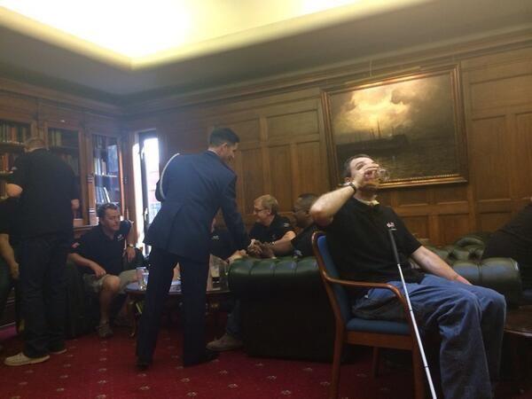 Project Gemini veterans relaxing at the Union Jack Club  #ProjectGemini #BlindVeteransUK