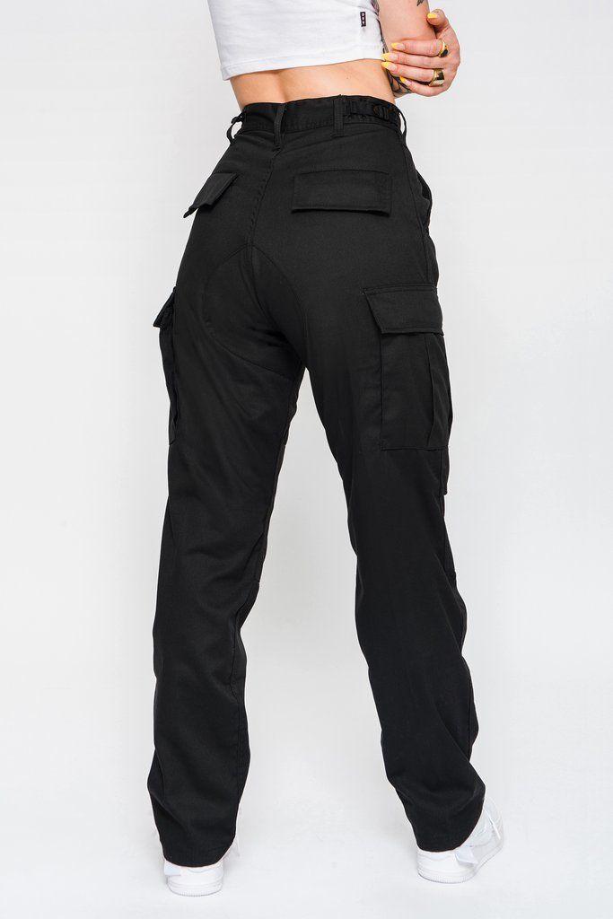 chouyatou Women's Stylish Military Multi-Pockets Wild ...  |Black Cargo Pants For Girls