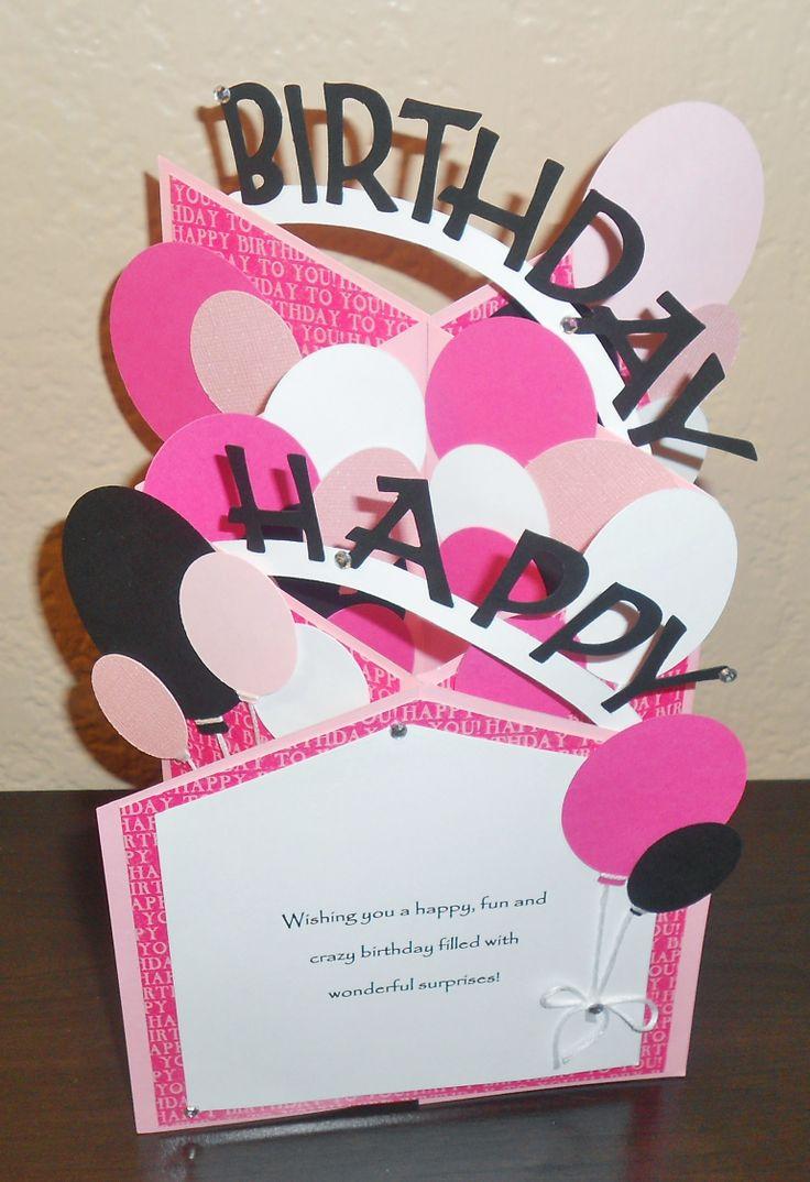 Handmade birthday cascade card Fancy fold cards