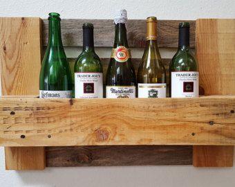 Pallet rigenerato vino Rack. Parete verticale vino Rack.