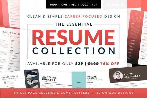 Essential Resume Collection. Job Seekers Dream Career Bundle. Professional, instant download, resume & cover letter templates. by bilmaw creative on @creativemarket
