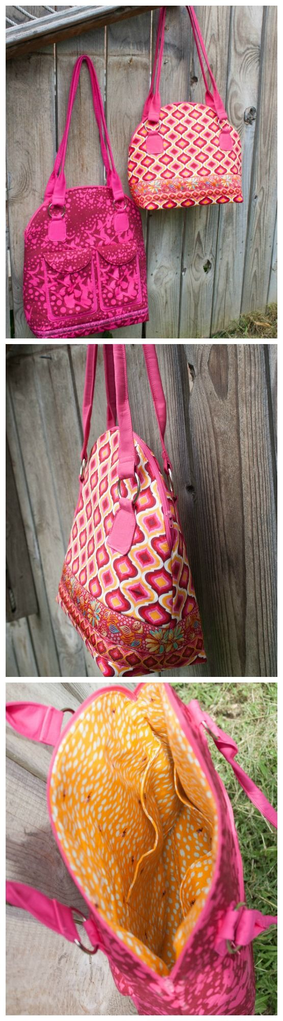 Byebye Love bag sewing pattern. Pattern comes in two sizes for a regular or…