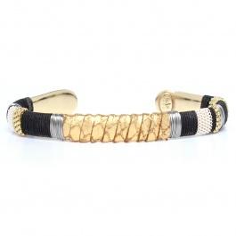 Bracelet Massai python doré (Gas bijoux)