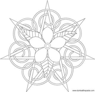 Elven Star  Could be embroidery or quilling or something?