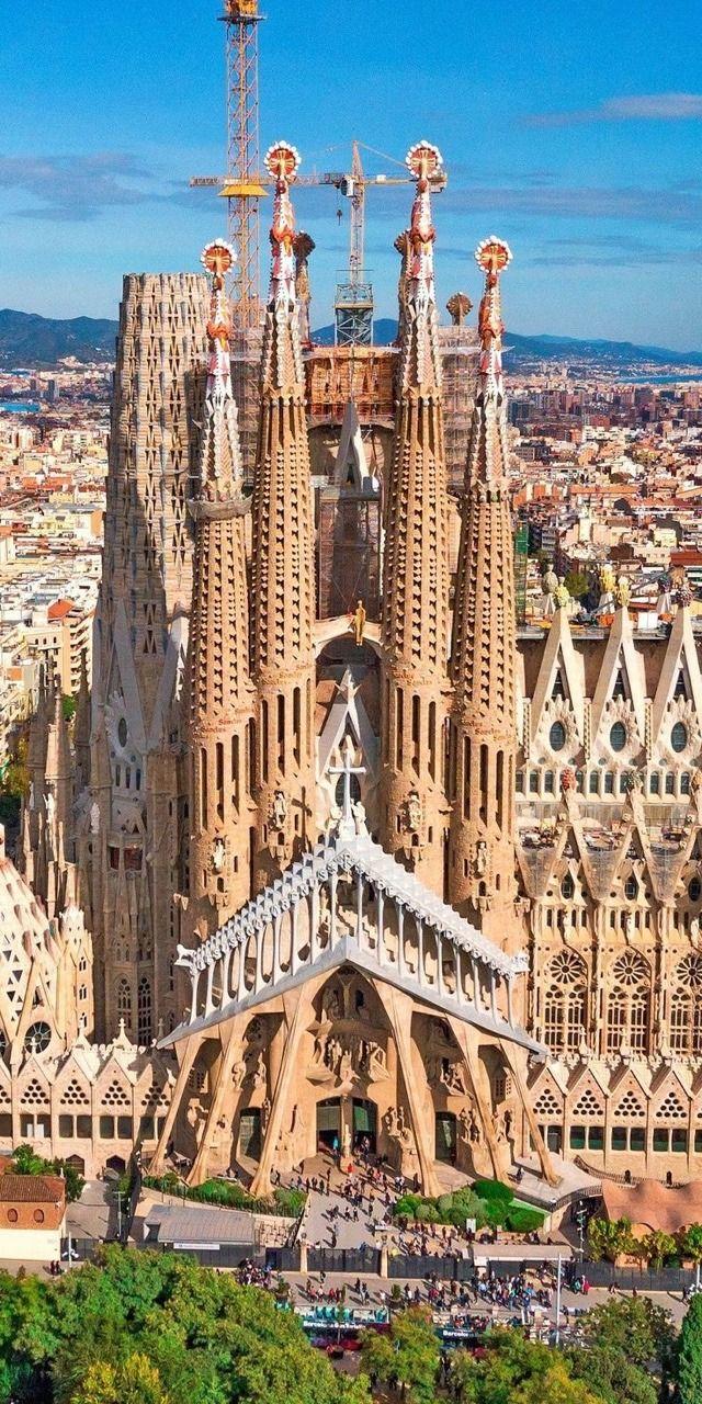 Barcelona Spain Vía Architecturewikicoffee Com Basílica De La Sagrada Familia La Sagrada Familia Barcelona Lugares Hermosos