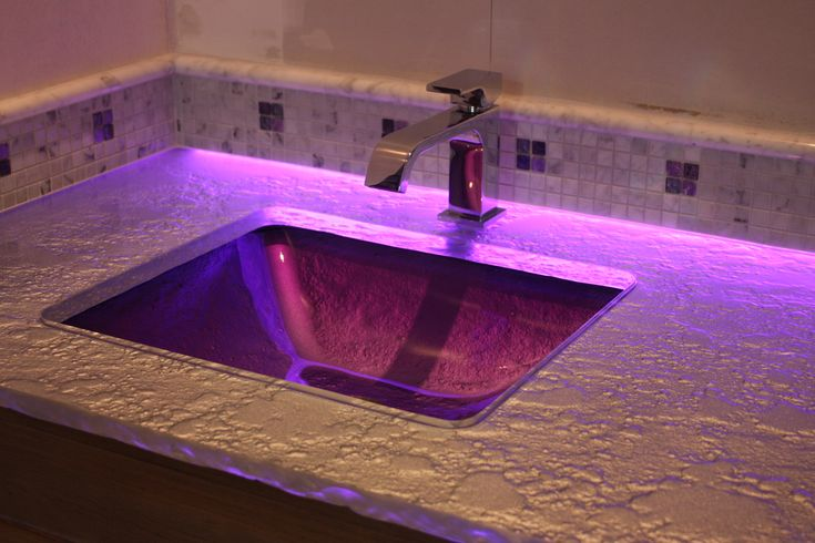 55 Best Images About Glass Countertops On Pinterest Led