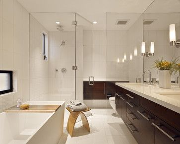 Art Exhibition  Elegant Bathroom Makeover Ideas Modern Bathroom With Glass Shower Room And Wooden Vanity