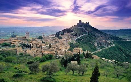 Umbria, Italy - basically Tuscany's less visited cousin.  There are some AMAZING vacation rentals you can check out on VRBO - villas, castles, even a converted olive mill.  Italy 2013?