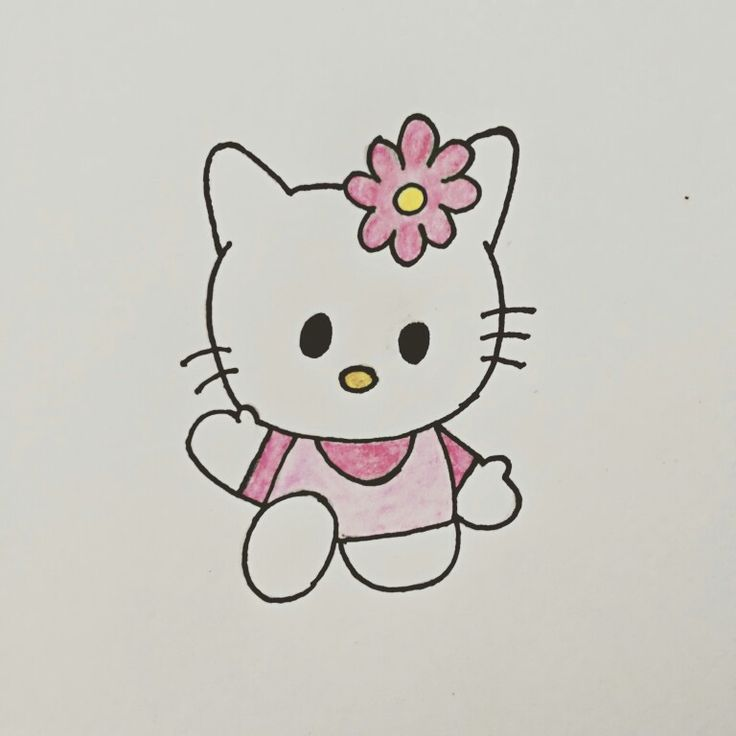 Hello Kitty..!!Free time drawing..!!
