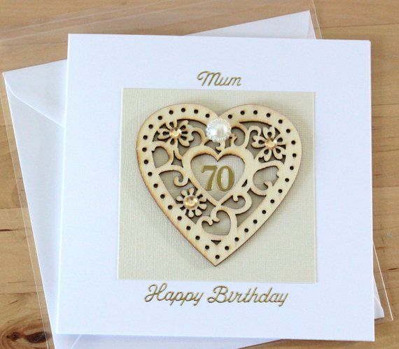 70th Birthday Card Gift For Woman Mum Mom Personalised 70th Etsy 90th Birthday Cards 70th Birthday Card Birthday Cards For Women