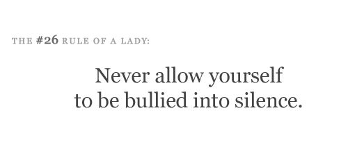 the #26 rule of a lady