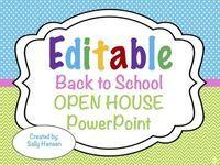 Editable Back to School Night/Open House/Meet The Teacher PowerPoint Slideshow #backtoschool