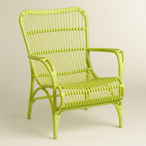 One of my favorite discoveries at WorldMarket.com: Green Hanalei Occasional Chairs, Set of 2
